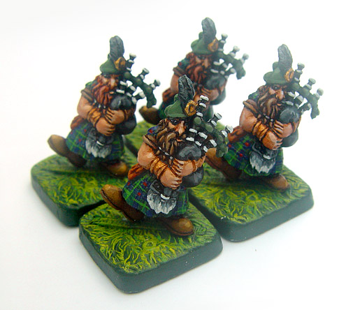 Dwarven Bagpipers